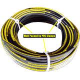 Boyau en caoutchouc hydraulique noir avec la surface douce ou enveloppée