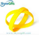 Un colore può essere braccialetti personalizzati del silicone