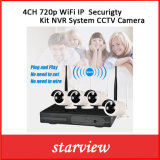 Cámara de 4 canales CCTV WiFi 720p Securigty Sistema NVR Kit IP