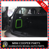 Membre d'un club F54 (2PCS/Set) de Mini Cooper de couverture de bordure de mémoire de joncteur réseau verte de couleur