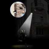 Solarinnenhauptbewegungs-Fühler-Sicherheits-Licht-im Freien wasserdichtes Wand-Licht der beleuchtung-10 LED Solar-PIR mit besonders langen Extensions-Netzkabeln