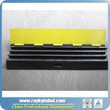 Rampa de proteção de cabo de borracha de plástico de 3 canais de venda quente