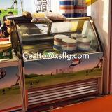 Contador de gelados duros Geladeiras Mostruário de sorvete