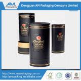 Caja de botellas Caja de cartón de vino rojo al por mayor con cajas de papel del tubo de tapas