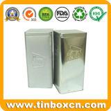 Square Café hermético Contenedor de Tin Tin Box envases para alimentos