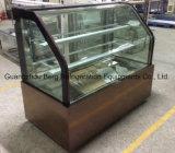 Frigorifero di vetro della visualizzazione della torta del portello di alta qualità con Ce