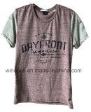 T-shirt novo do estilo para homens com tela do fio das idéias