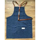 Рисберма ремесленника холстины сбор винограда Handmade голубая с кожаный планкой