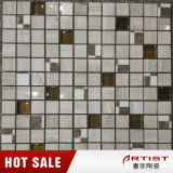 Klassisches Marmormosaik-Mischungs-Glas, Mosaik-Fliese-Modelle für Innenwand