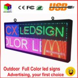 """Radio a todo color al aire libre de la muestra de P6 RGB LED y visualización de LED programable de la pulgada """" X18 """" de la información de balanceo del USB 40"""