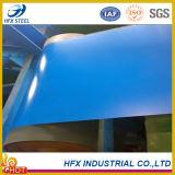 La couleur bleue de mer de qualité a enduit la bobine d'une première couche de peinture en acier galvanisée