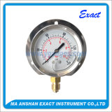 Ss Pressure Gage Manometer with Back Flange-Liquid Filled Pressure Gage