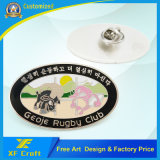 Hierro de encargo de la promoción que estampa la divisa suave del Pin del esmalte con cualquie insignia (XF-BG21)