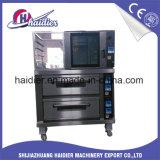Apparatuur 2 Dek 4 van de Bakkerij van de catering de Oven van het Dek van Dienbladen onderaan Proofer