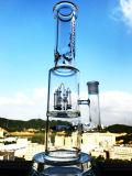 17 tubulação de água de vidro de Perc da forma do castelo da espessura da polegada 5mm