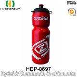La vendita calda BPA libera la bottiglia di acqua di plastica di sport del PE corrente, bottiglia di acqua di sport della plastica con paglia (HDP-0697)