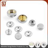 Botón individual redondo de encargo del broche de presión del metal del OEM Monocolor