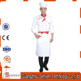 Os fabricantes dirigem o uniforme uniforme da cozinha do cozinheiro chefe do algodão da qualidade superior
