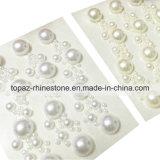 Приукрашивания самоцветов оптового акрилового стикера перлы Rhinestone кристаллический липкие (TP-056)