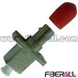 Adaptador óptico LC de la fibra híbrida al simplex del metal de la conversión del St