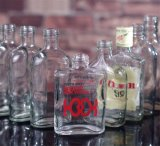 Kolben-Glasflasche für Rum, Whisky