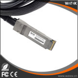 4 10GBASE CU에 섬유 케이블 호환성 40GBASE-CR4 QSFP는 부착물 구리 탈주 케이블 50cm를 지시한다