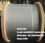 "ASTM un Ehs Clase 475 un cuarto"" , 3/8"" , 5/16"" , 1/2"" galvanizado de alambre de acero Strand"