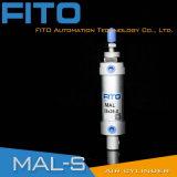 Mini type en aluminium d'Airtac de cylindre (doubles temporaire et à simple effet)