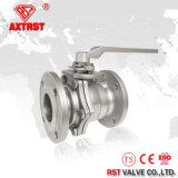 API 150lb / 300lb 2PC Válvula de bola de brida de acero inoxidable