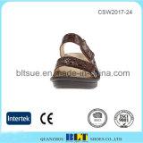 Bequemes ledernes Großhandelsfutter-beiläufige Schuhe für Frauen