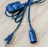 더 희미한 스위치를 가진 E12 램프 소켓 램프 전원에 미국 2 Pin 플러그