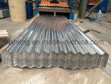 Zinco ondulato galvanizzato Ghana Africa dello strato del tetto del metallo