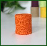 Farbige Jutefaser-Leinwand-Tuch-Rolle (orange)
