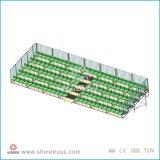 El blanqueador de las graderías cubiertas de la capa asienta la gradería cubierta móvil (YN-LB2000)