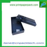 カスタム塗被紙のリボンのギフトの包装の上および底宝石箱