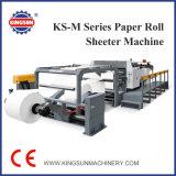 Ks-M Servo Control Double Rotary Knife Roller Papel à máquina de corte de folhas