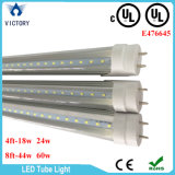 Noordamerikaanse UL 4FT 8FT Clear Milky Cover 100-277V Single Ended Hot Tube UL T8 LED Tube Light