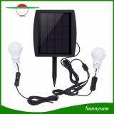 太陽エネルギーの球根ライト2W地上スパイクが付いている明るい庭のヤードライトセンサーの屋外の防水太陽ランプ