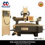 Machine automatique de travail du bois de commande numérique par ordinateur de commutateur d'outil d'axe de Hsd de certificat de la CE