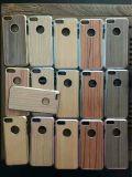 Étui de téléphone mobile hybride en bois à électroplaçage Wood Back Shell