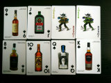 Красное & белое вино и карточки собрания духов играя
