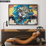 キャンバスのトラの肖像画の壁の装飾