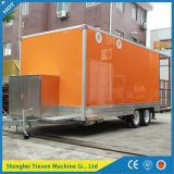 Mobile Restaurant Bus / China Mobile Food Cart Snack Bar