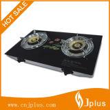 Stufa di gas d'ottone superiore dei bruciatori di vetro Tempered dell'elettrodomestico di alta qualità doppia Jp-Gcg268