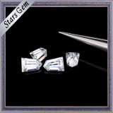 Diamant clair de Moissanite de coupure de remboursement in fine de cône du blanc 6*4mm