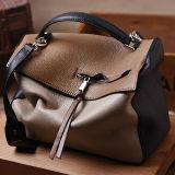 Sacchetto di spalla di cuoio molle del Tote delle donne della borsa di colore di scontro del sacchetto d'avanguardia caldo del messaggero Emg5138