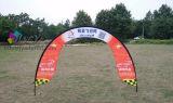カスタムサイズおよびロゴは競争のゲートのイベントの旗の表示を印刷した