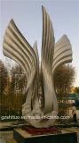 자유, 큰 금속 스테인리스 조각품의 은 날개는 금속의 생산을%s 전문화해 Outdoor Garden.Our Company에, 적당한 훈장이다
