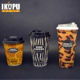 Eco-Friendly устранимые Corrugated принимают отсутствующие кофейные чашки бумаги стены пульсации при пурпуровый цвет напечатанный с крышками