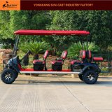 Ce Aprovado 8 Passenger Electric Hunting Golf Cart (bancos traseiros traseiros traseiros)